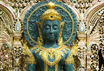 Buddha image at Wat Phra That Doi Suthep, Chiang Mai, Thailand