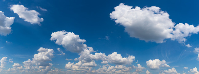 Panorama view of sky clouds