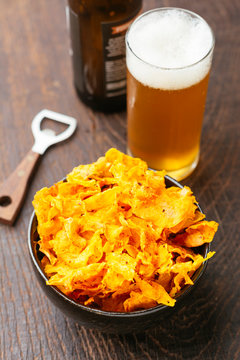 Home-made Sriracha Sweet Potato Chips
