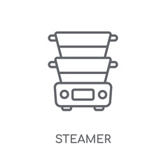 steamer linear icon. Modern outline steamer logo concept on white background from kitchen collection