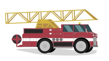 Vector Illustration of Cartoon Fire Extinguishing