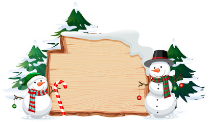 Wooden banner with christmas these