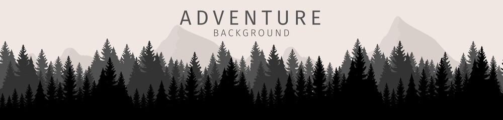 Vector Illustration Cartoon Adventure Background