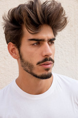 Portrait of a handsome young man with goatee
