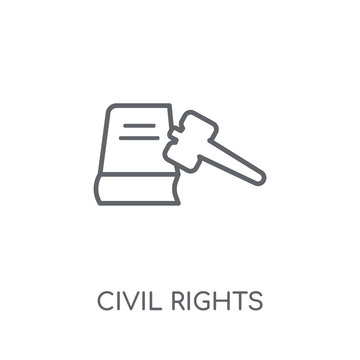 civil rights linear icon. Modern outline civil rights logo concept on white background from law and justice collection