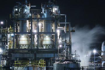Foto op Canvas Industrial geb. 姫路工場夜景