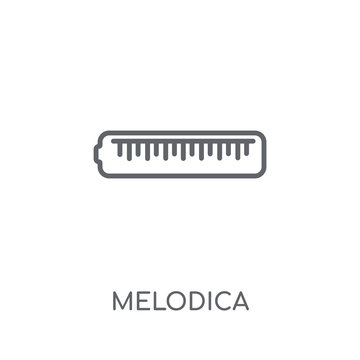 Melodica linear icon. Modern outline Melodica logo concept on white background from Music collection