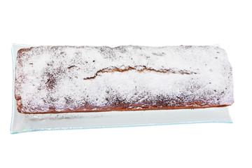 Top view on freshly baked sweet cake