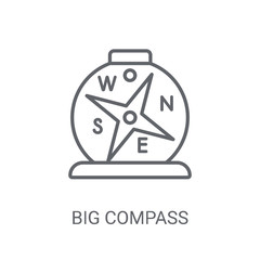 Big Compass icon. Trendy Big Compass logo concept on white background from Nautical collection