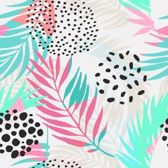 Poster de jardin Empreintes Graphiques Abstract summer seamless pattern.