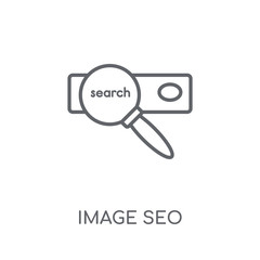 Image SEO linear icon. Modern outline Image SEO logo concept on white background from Programming collection