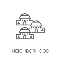 Neighborhood linear icon. Modern outline Neighborhood logo concept on white background from Real Estate collection