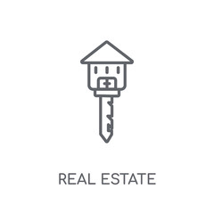 Real estate linear icon. Modern outline Real estate logo concept on white background from Real Estate collection