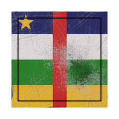 Central African Republic flag in concrete square