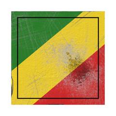 Republic of Congo flag in concrete square