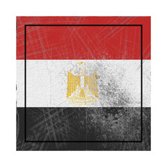 Egypt flag in concrete square