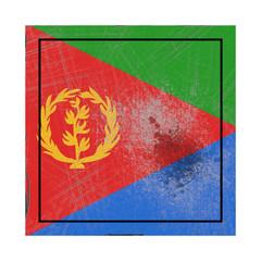 Eritrea flag in concrete square