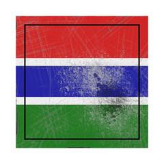 Gambia flag in concrete square