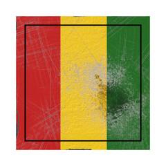 Guinea flag in concrete square