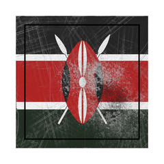 Kenya flag in concrete square