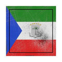Equatorial Guinea flag in concrete square