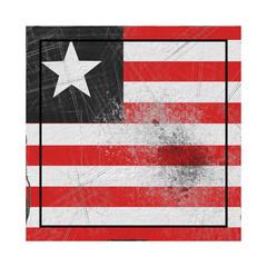 Liberia flag in concrete square