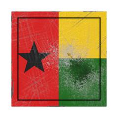 Guinea-Bissau flag in concrete square