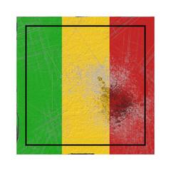 Mali flag in concrete square