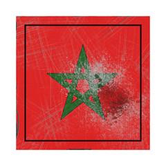 Morocco flag in concrete square