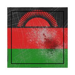 Malawi flag in concrete square