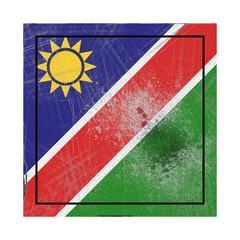 Namibia flag in concrete square