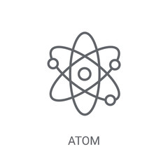 Atom icon. Trendy Atom logo concept on white background from Science collection