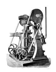 Machine. Retro illustration