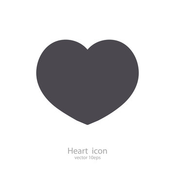 Vector heart black color isolated on background for love symbol, chat, valentines day sign, live stream video, social network like button. 10 eps