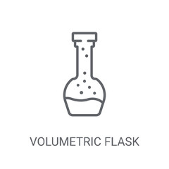 Volumetric flask icon. Trendy Volumetric flask logo concept on white background from Science collection