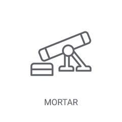 Mortar icon. Trendy Mortar logo concept on white background from Science collection
