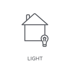 Light linear icon. Modern outline Light logo concept on white background from Smarthome collection