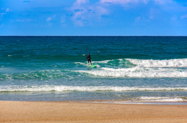 On the Mediterranean sea suitable weather for surfing