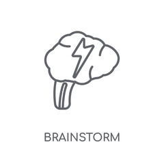 Brainstorm linear icon. Modern outline Brainstorm logo concept on white background from Startup Strategy and Success collection