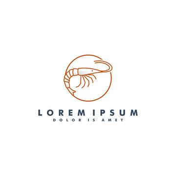 shrimp logo template design vector illustration