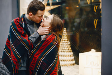 couple in a city