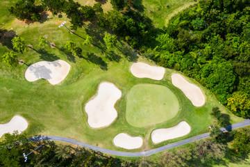 ゴルフ場には緑豊かな風景が広がっている