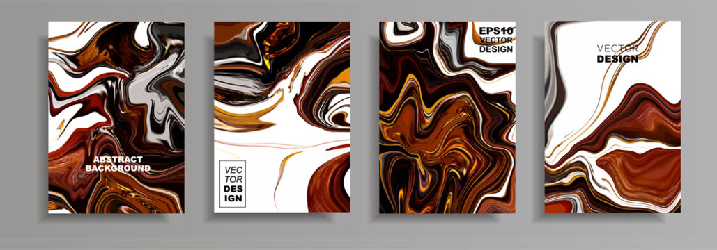 Modern design A4.Abstract marble ceramic texture of colored bright liquid paints. Plating of acrylic paints. Design presentations, print, flyer, business cards, invitations, calendars, websites