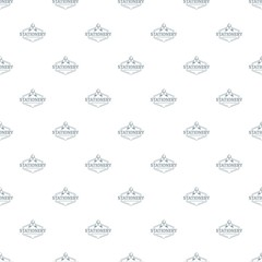 Stationery pattern vector seamless repeat for any web design