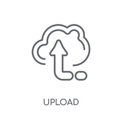 Upload linear icon. Modern outline Upload logo concept on white background from User Interface and Web Navigation collection