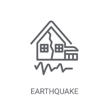 Earthquake icon. Trendy Earthquake logo concept on white background from Weather collection