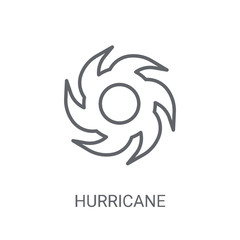 Hurricane icon. Trendy Hurricane logo concept on white background from Weather collection