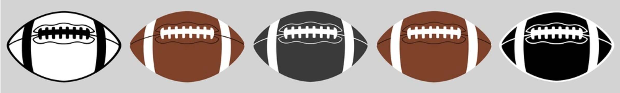 American Football | Ball | Emblem | Logo | Variations