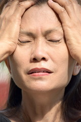 Retired Diverse Female Senior Under Stress