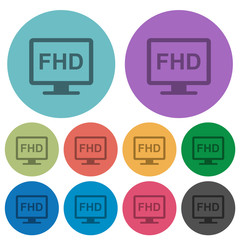 Full HD display color darker flat icons